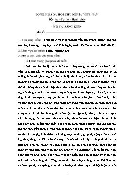 Sáng kiến kinh nghiệm Thực trạng và giải pháp tư vấn tâm lý học đường cho học sinh lớp 8 trường trung học cơ sở Phú Ngãi, Huyện Ba Tri năm học 2012-2013