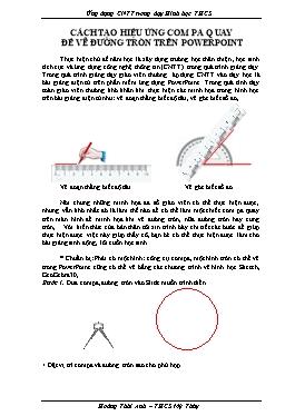 Sáng kiến kinh nghiệm Cách tạo hiệu ứng Compa quay để vẽ đường tròn trên PowerPoint
