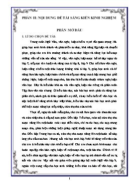 SKKN Một vài biện pháp rèn luyện kĩ năng làm văn nghị luận về một đoạn thơ, một bài thơ cho học sinh Lớp 9